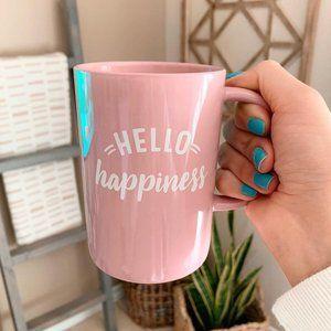Threshold Hello Happiness Pink Coffee Tea Mug